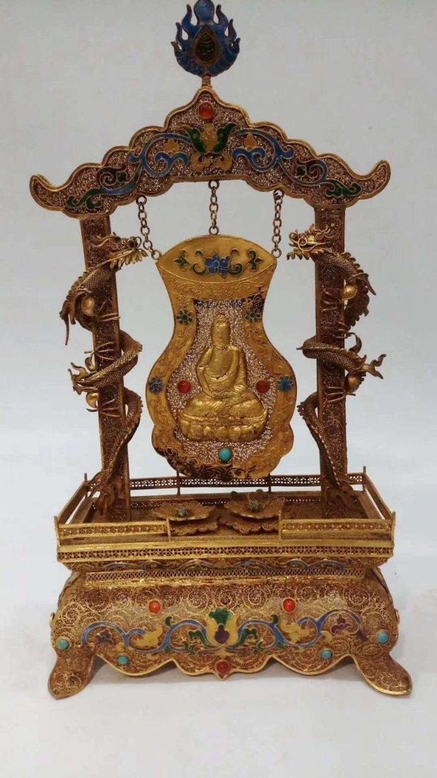Silver gold-plated Buddha