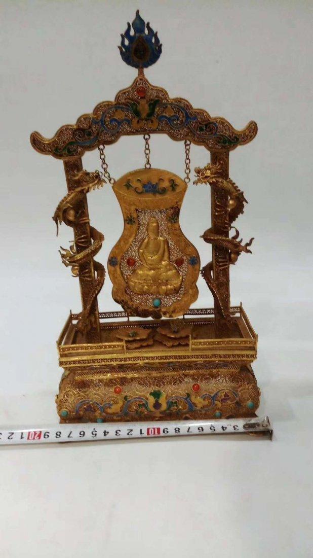 Silver gold-plated Buddha - 3