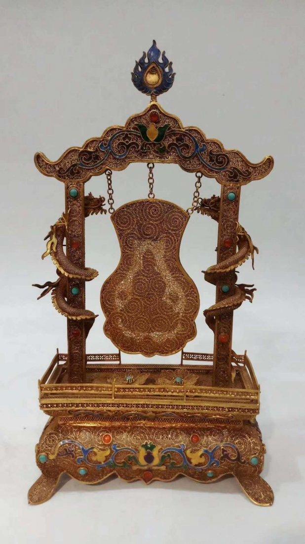 Silver gold-plated Buddha - 5