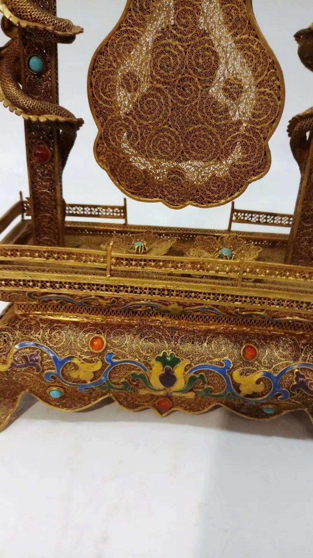 Silver gold-plated Buddha - 6