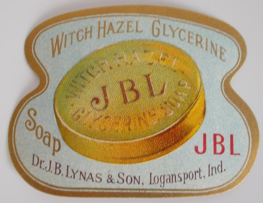 Early J. B.Lynas Witch Hazel Glycerine Soap Label