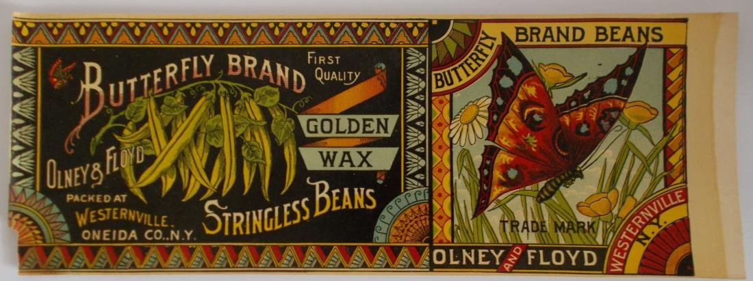 Very Rare Early Butterfly Brand Golden Wax Stringless