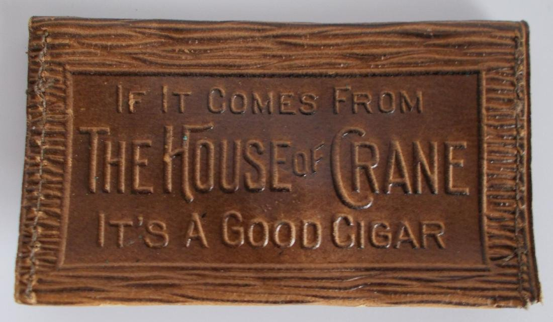 Rare 1900s Leather House of Crane Cigar Leather Change