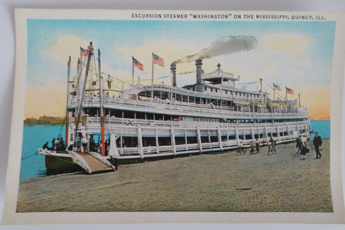 Steamboat Postcard - Excursion Steamer Washington on
