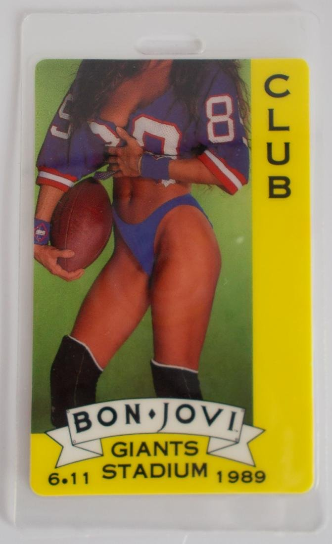 1989 Bon Jovi Laminate Backstage Press Pass – Unused