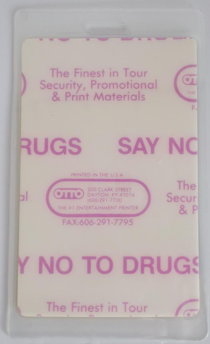 1989 Bon Jovi Laminate Backstage Press Pass – Unused - 2