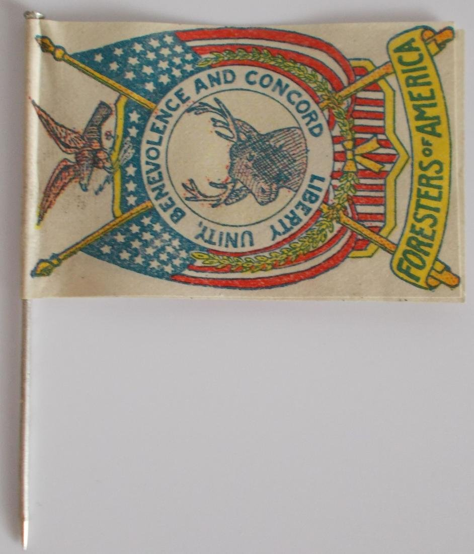 Very Rare Early Foresters of America Paper Flag on Pin
