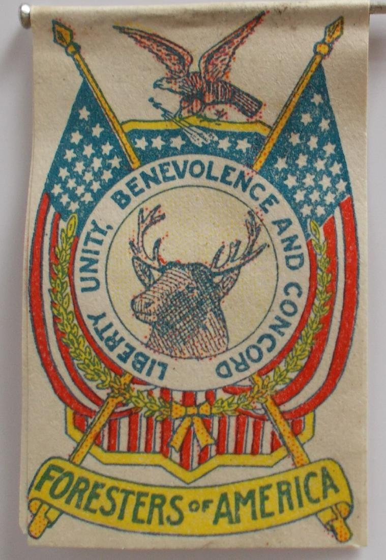 Very Rare Early Foresters of America Paper Flag on Pin - 3