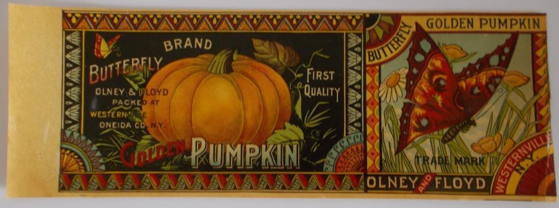 Olney & Floyd Butterfly Brand Golden Pumpkin label