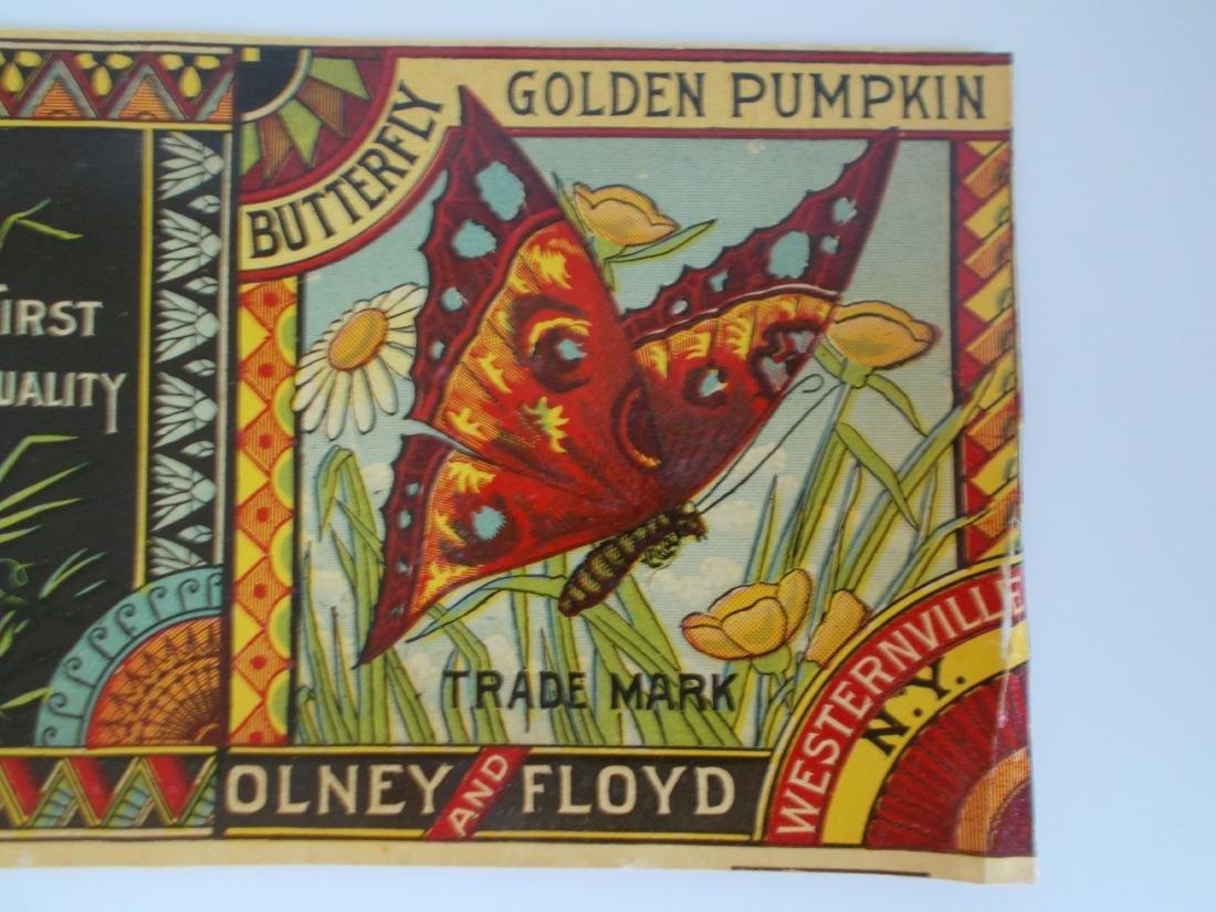 Olney & Floyd Butterfly Brand Golden Pumpkin label - 2