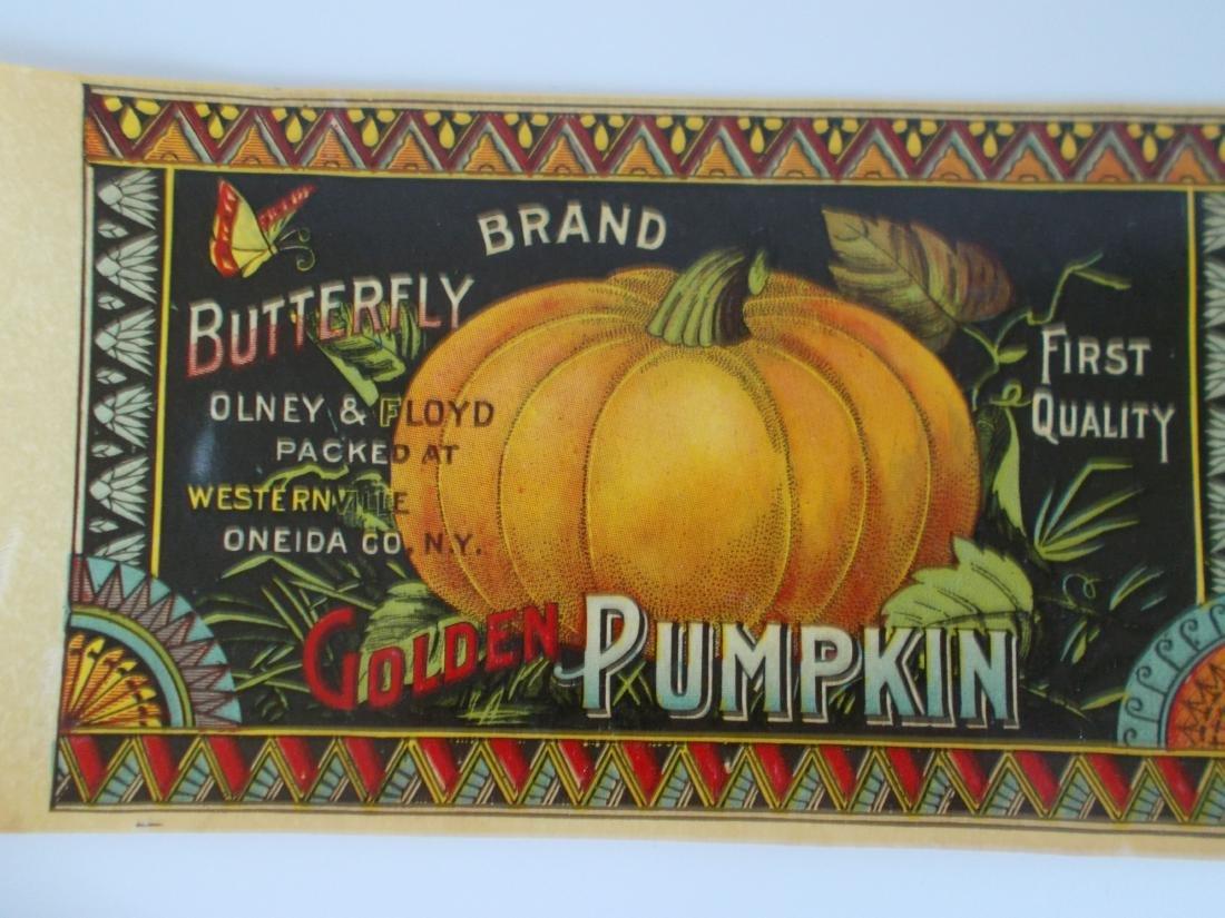 Olney & Floyd Butterfly Brand Golden Pumpkin label - 3