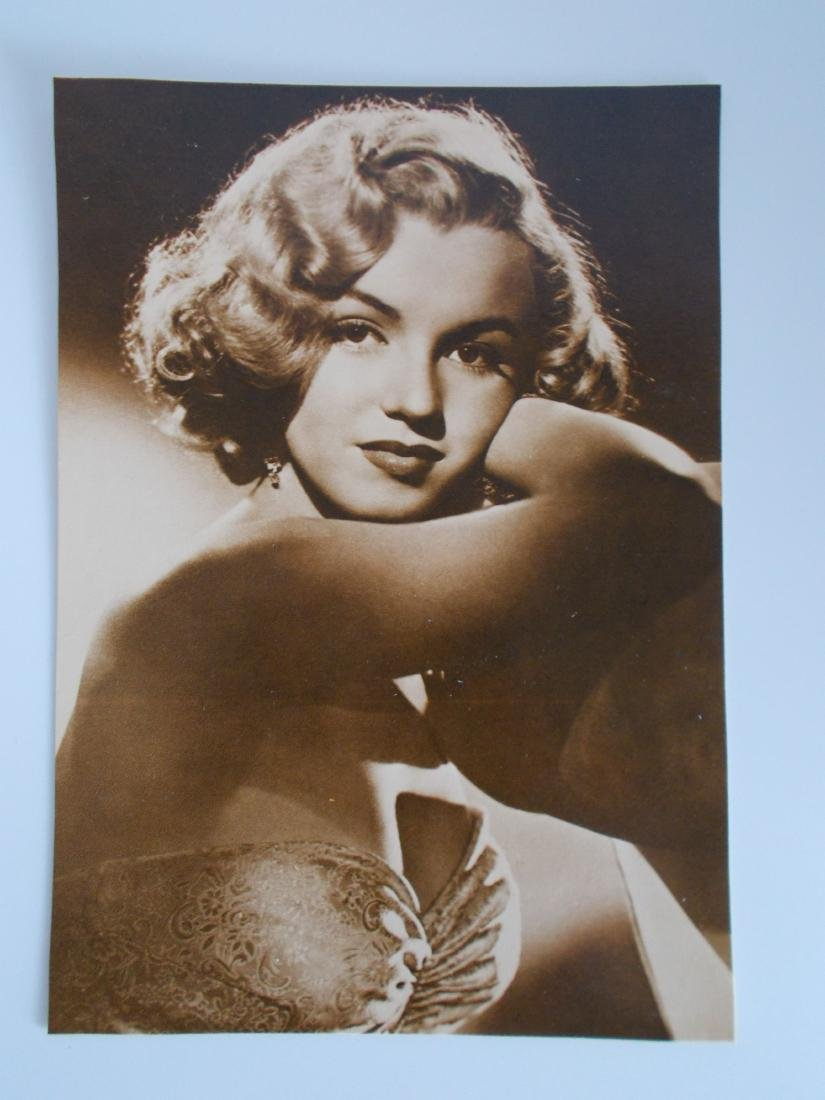 Marilyn Monroe Sepia Fotocard - Ludlow Sales FC-29-50.
