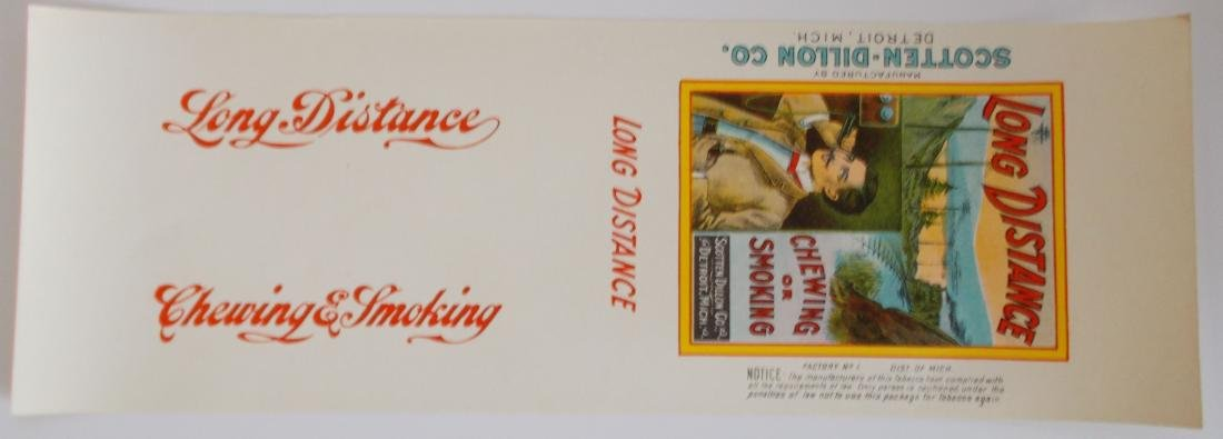 "Long Distance Tobacco Wrapper. c.1910 – 12"" long - 2"