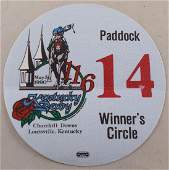 1990 OTTO cloth pass for Winner's Circle116th running