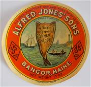 Alfred Jones Sons Celebrated Finan Haddie Jar Label
