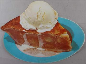 1950's Apple Pie & Ice Cream Diner Sign. Found in