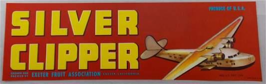 13 Silver Clipper Grape Crate Label c1950