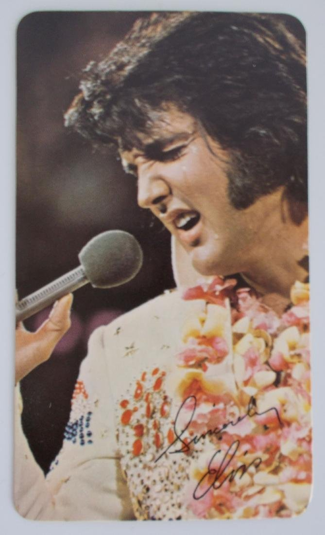 1974 Elvis RCA Pocket Calendar. Scarcer year.
