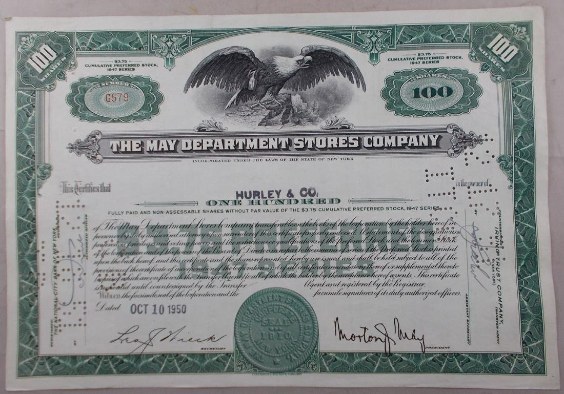 The May Department Stores Stock Certificate