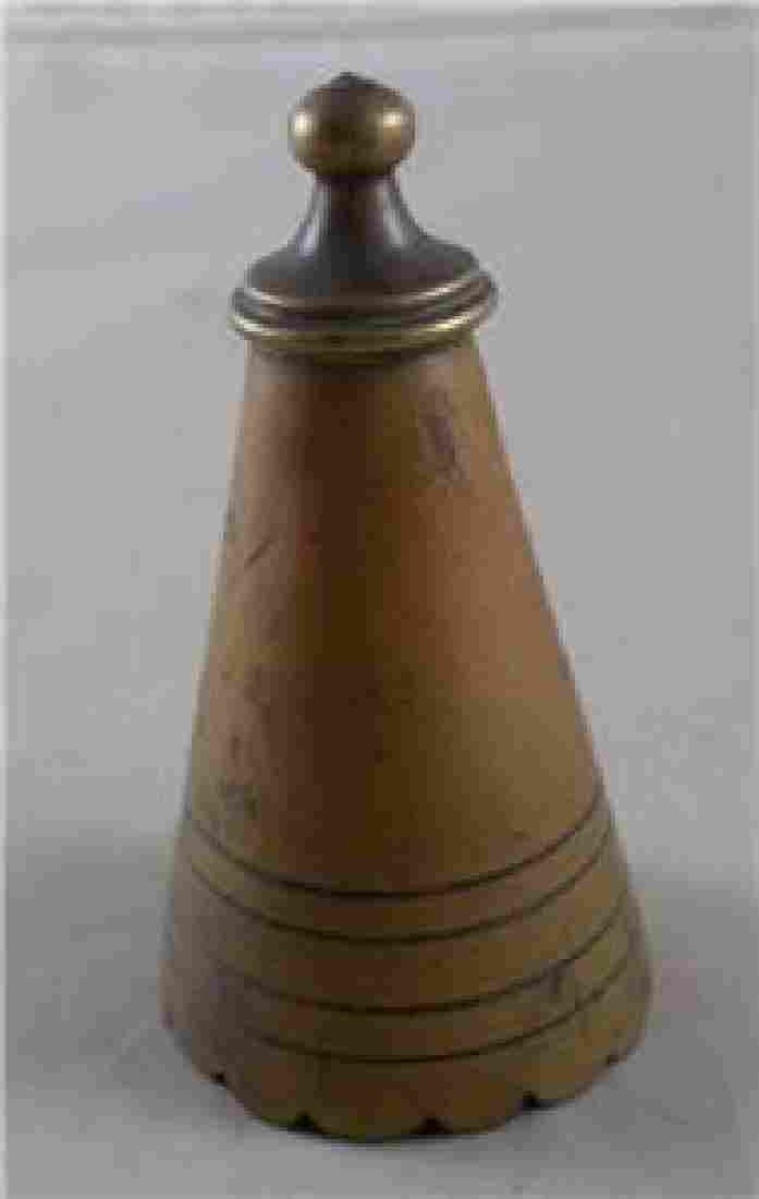 """Primitive Antique """" Witches Hat """" Candle Snuffer with"""