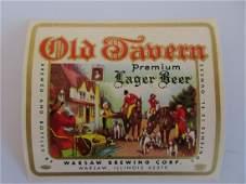 Old Tavern Lager Beer Label. c.1960s