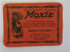 3 12 wide vintage unused c1930s Moxie bottle label