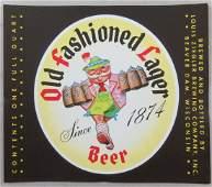 Large Ziegler Old Fashioned Lager Beer Quart Bottle