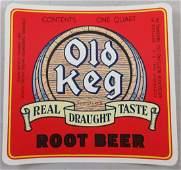 Uncommon Old Keg Root Beer Bottle Label 414 wide