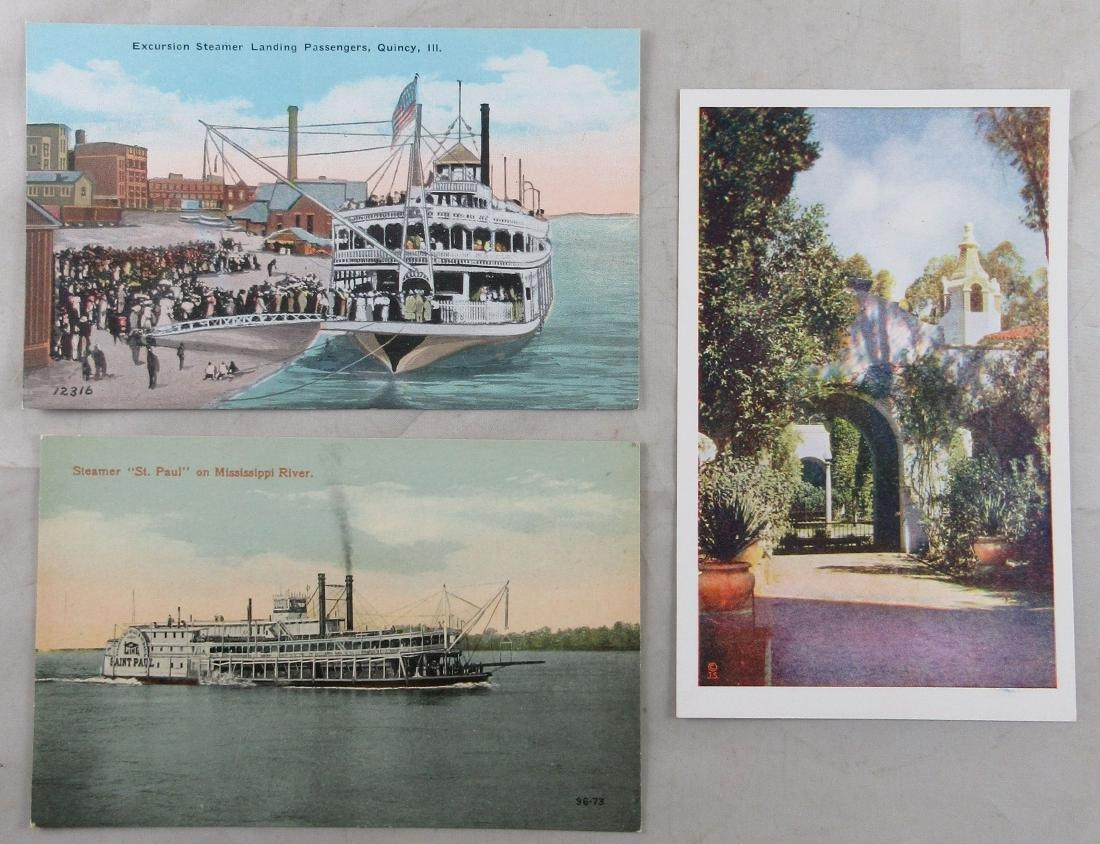 3 Unused Antique Postcards. c. 1910s and 1935