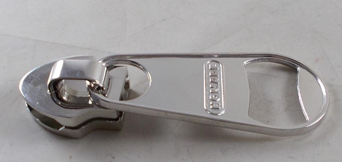 Large Bottle Opener w/ Magnet in Shape of a Zipper. - 2