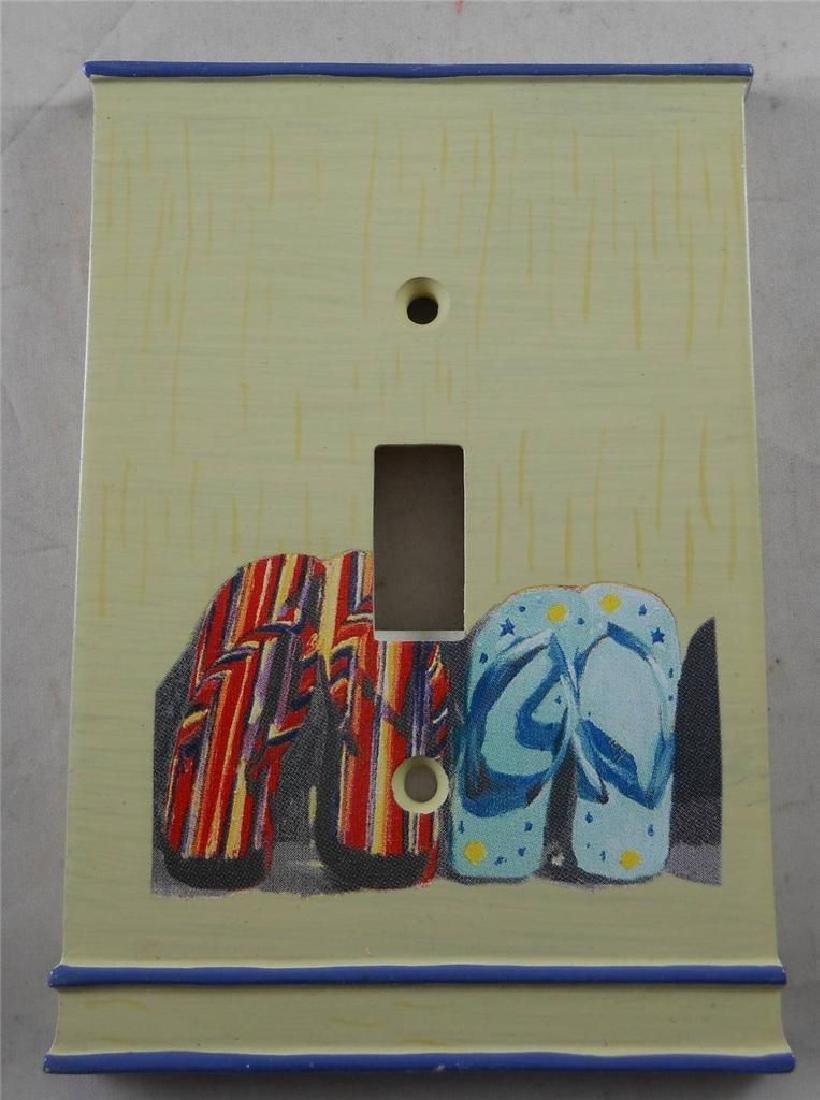 Lot of 3 Light Switch Plate Covers w/ Flip Flops. New