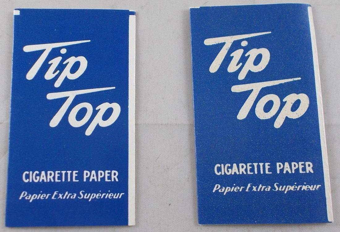 2 Vintage Tip Top Cigarette Rolling Paper Packs