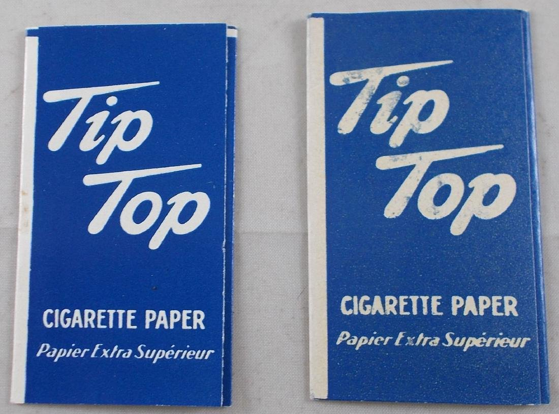 2 Vintage Tip Top Cigarette Rolling Paper Packs - 2