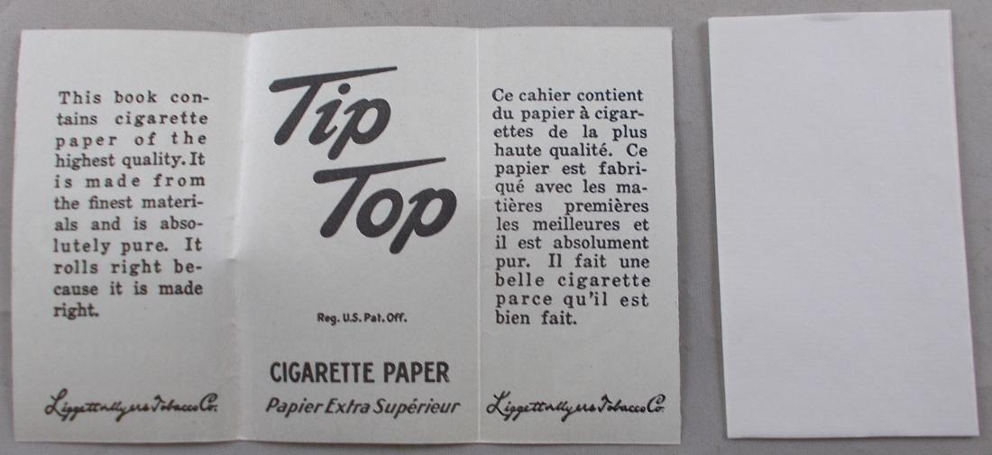 2 Vintage Tip Top Cigarette Rolling Paper Packs - 3