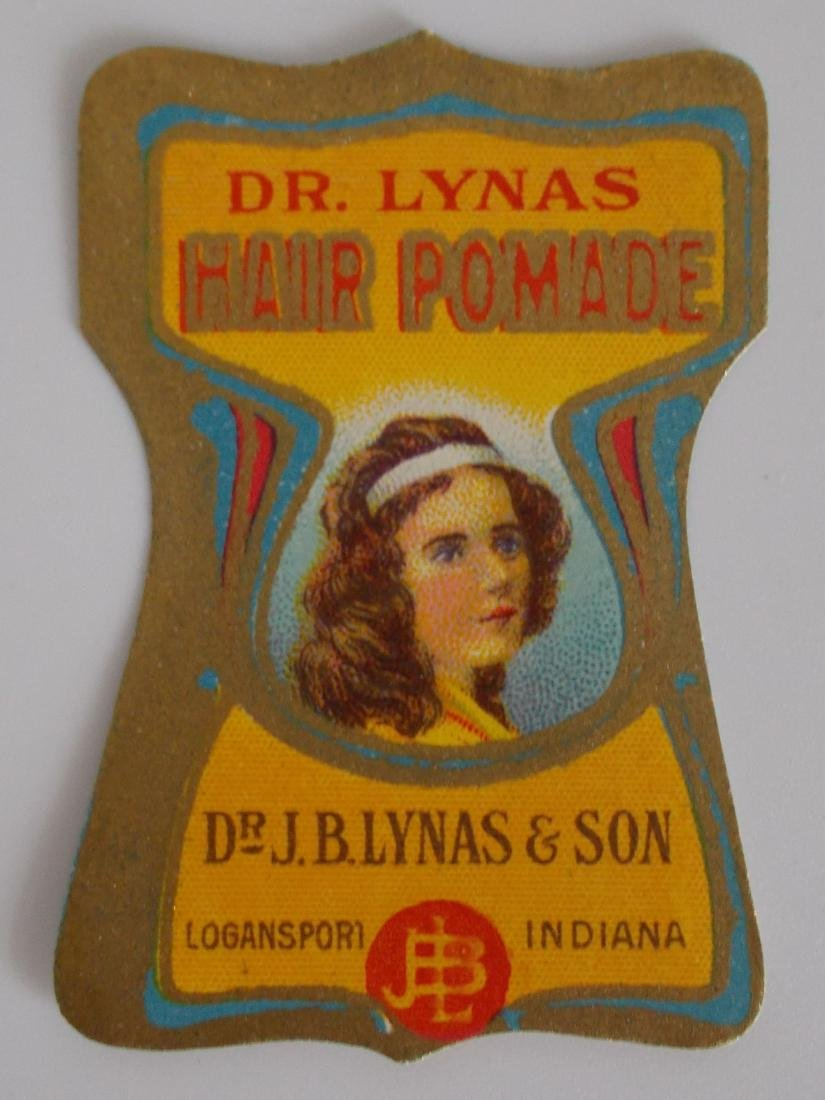 Early Dr. Lynas Hair Pomade Label c.1900