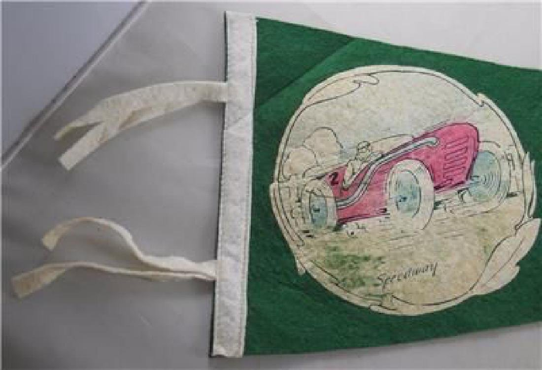 RARE 1914 Indianapolis Speedway Felt Pennant - Early - 3