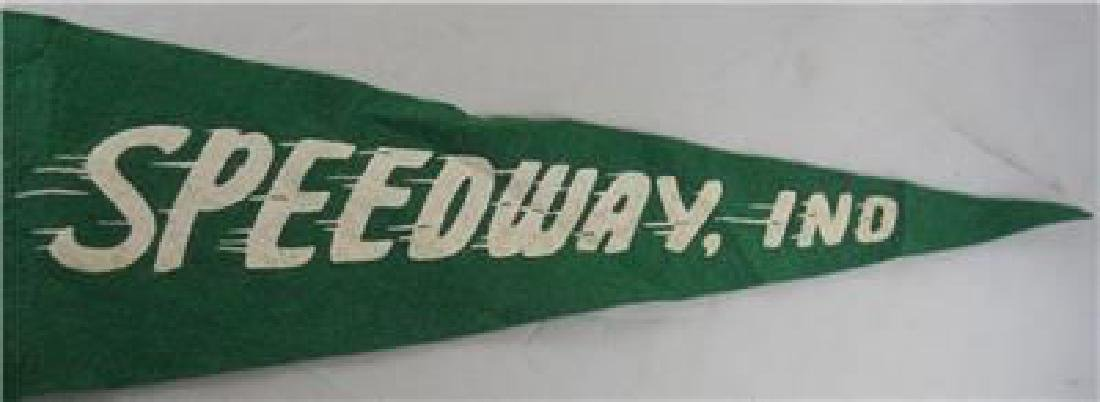 RARE 1914 Indianapolis Speedway Felt Pennant - Early - 4