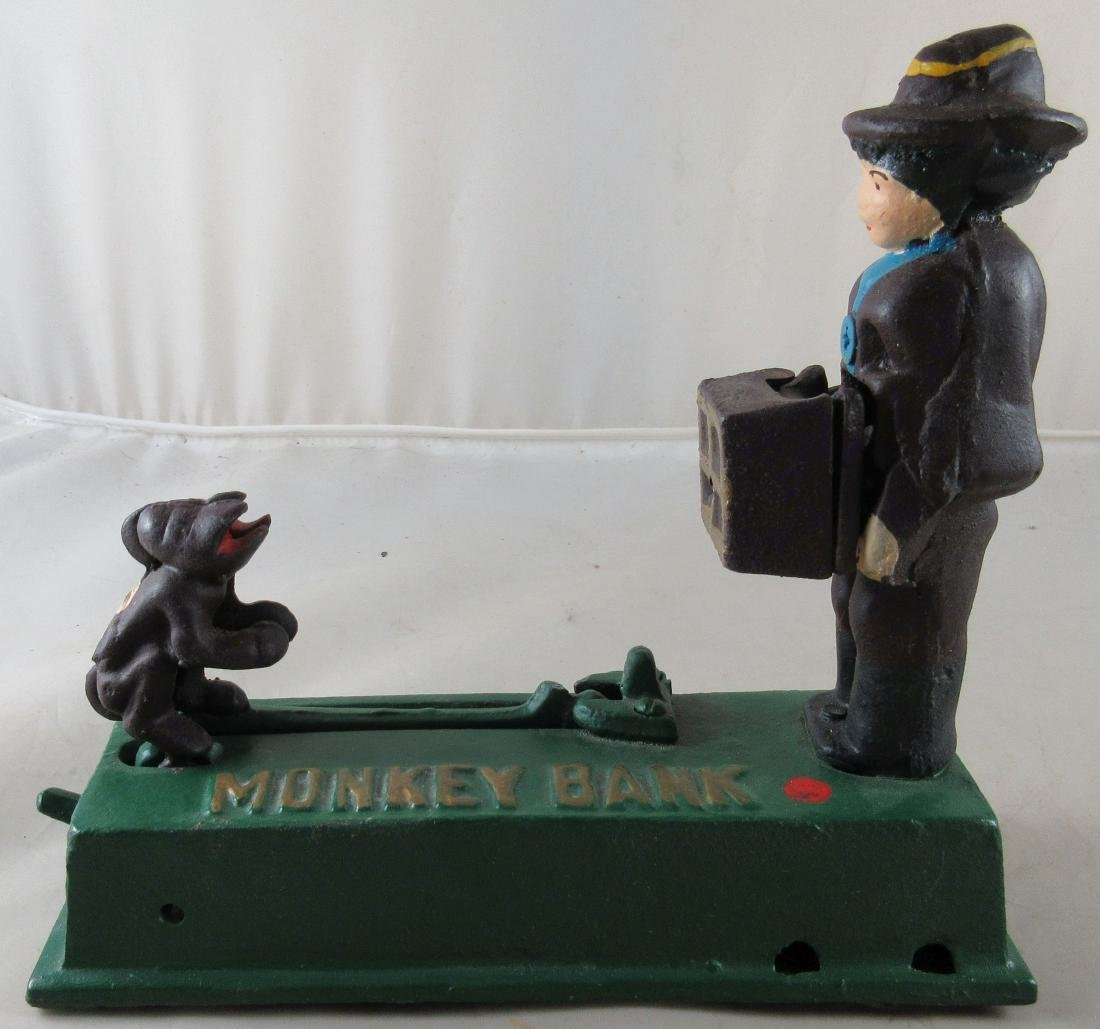 Monkey Mechanical Bank – Reproduction