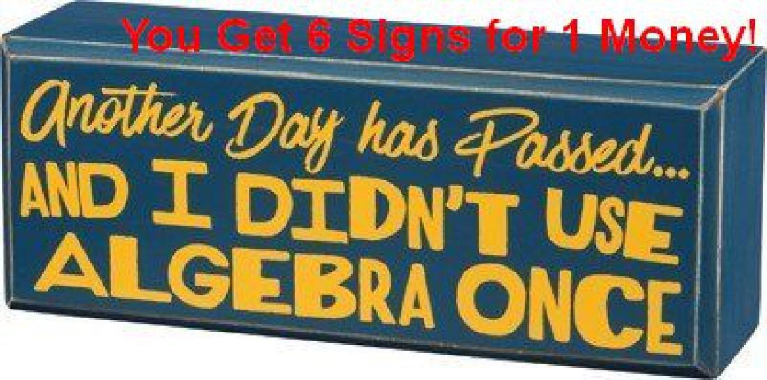 Resale Lot of 6 Whimsical Algebra Signs