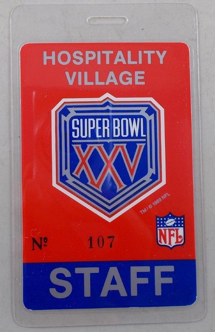 1991 Super Bowl XXV Staff Pass. Found at OTTO (mfg.)