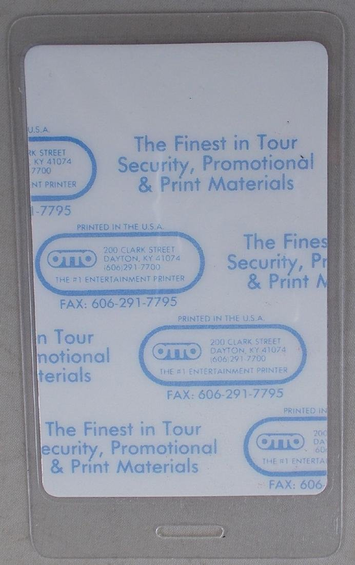 1991 Super Bowl XXV Staff Pass. Found at OTTO (mfg.) - 2