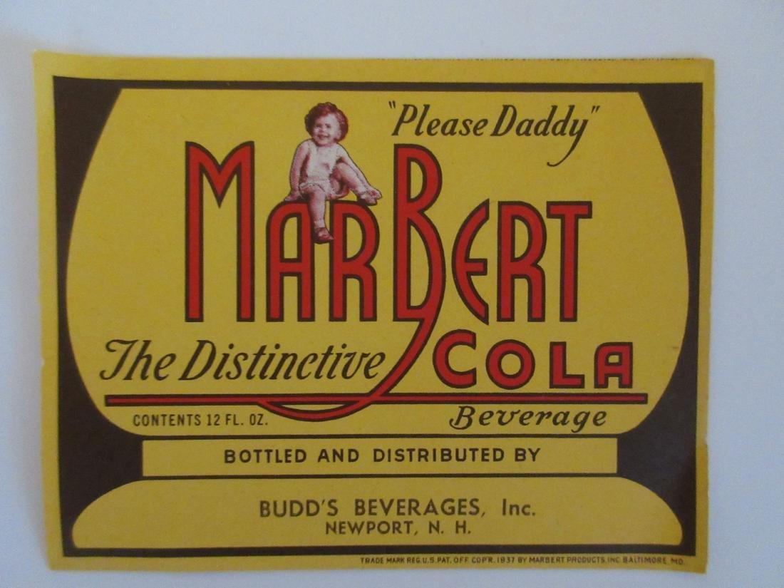 MarBert Cola Label. c.1940's
