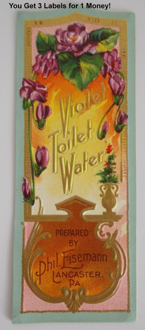 3 Phil Eisemann Violet Toilet Water Bottle Label –