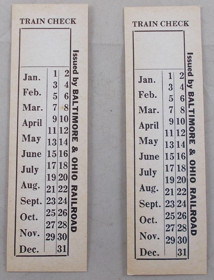 2 Unused Baltimore & Ohio Railroad Ticket.