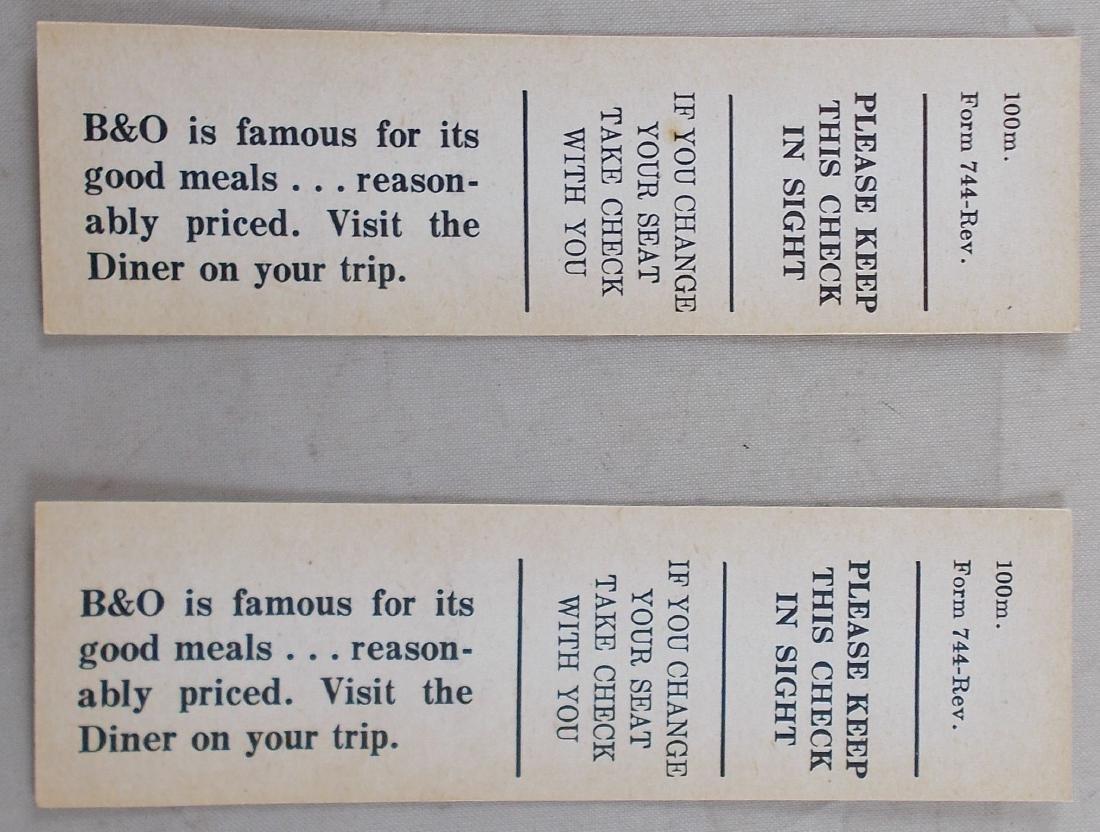 2 Unused Baltimore & Ohio Railroad Ticket. - 2