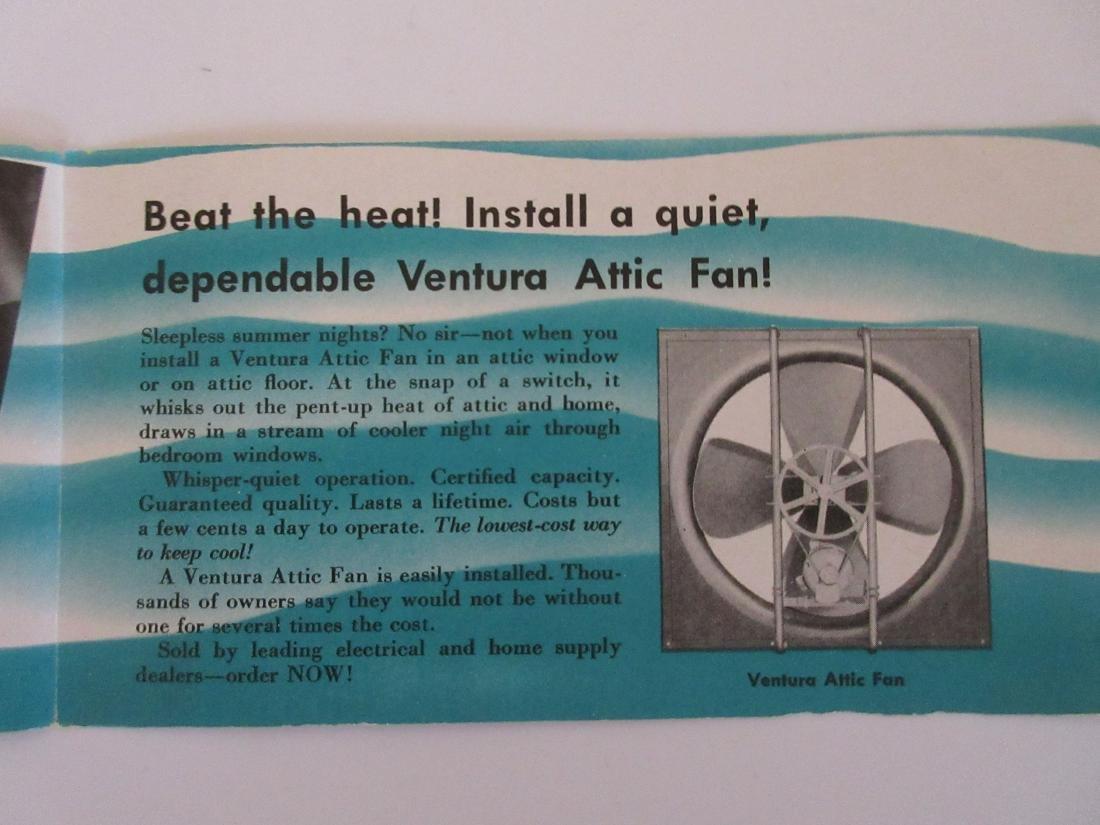 1947 Ventura Attic Fan Brochure - 4