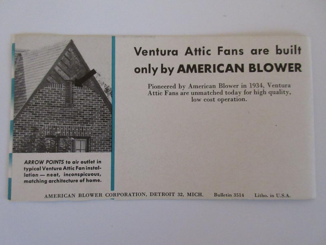 1947 Ventura Attic Fan Brochure - 5