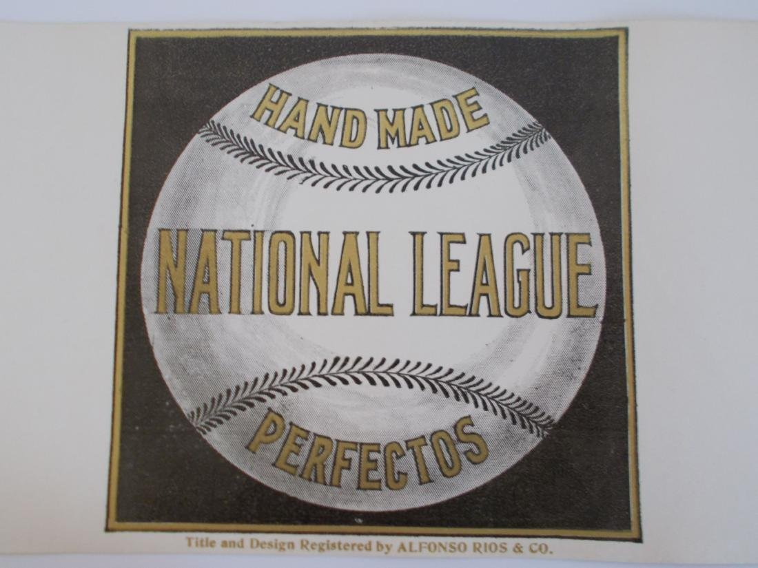 Rare Large Full Size National League Perfectos Cigar - 2