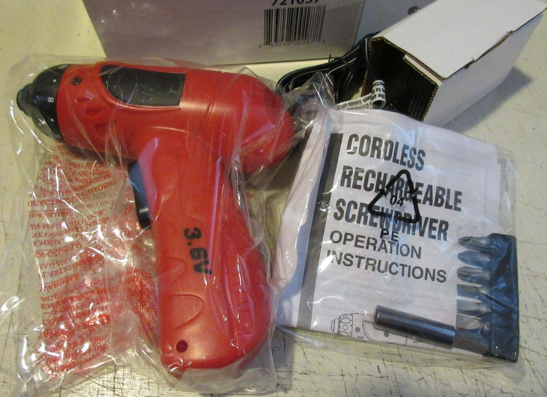 Small 3.6V Cordless Drill with Bits. New in box. - 2