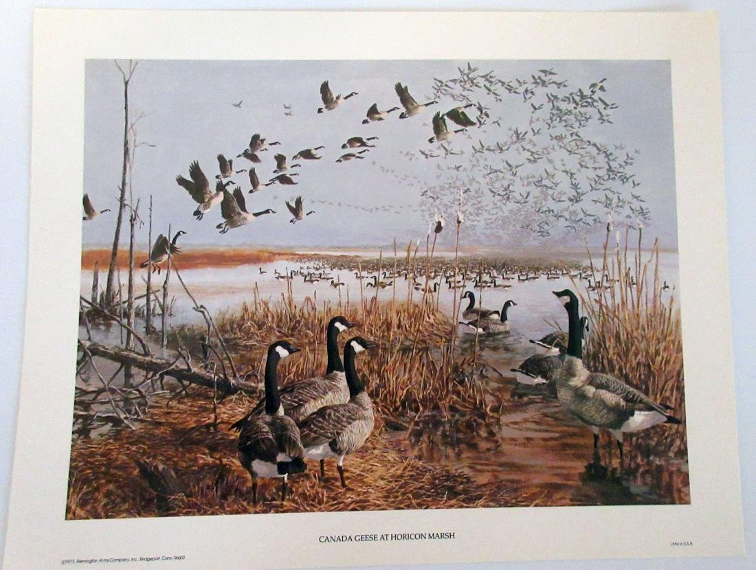"""1973 Remington Arms """"Canada Geese at Horicon Marsh"""""""